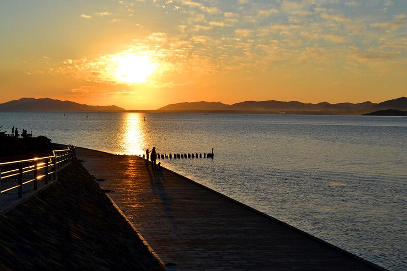 宍道湖 夕焼け