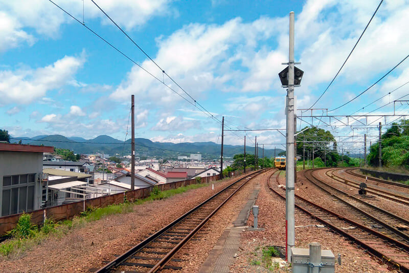 金谷駅からの風景