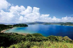 加計呂麻島 青い海
