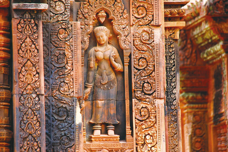 """""""東洋のモナ・リザ""""は絶対に見たい!アンコール遺跡にあるバンテアイ・スレイの彫刻が素晴らしい!"""