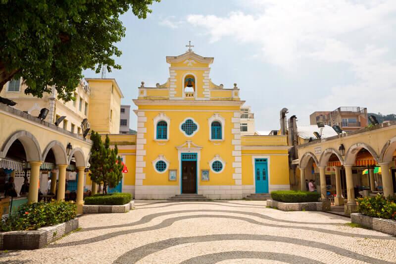 ポルトガルの風情が残るコロアンヴィレッジで、古き良きマカオの街並みを楽しもう♪