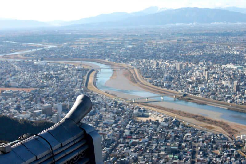 岐阜城からの長良川