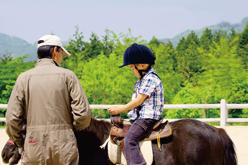 乗馬体験の イメージ 子ども