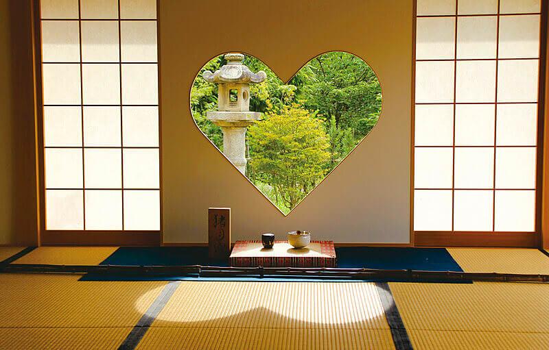 京都正寿院ハート形の窓