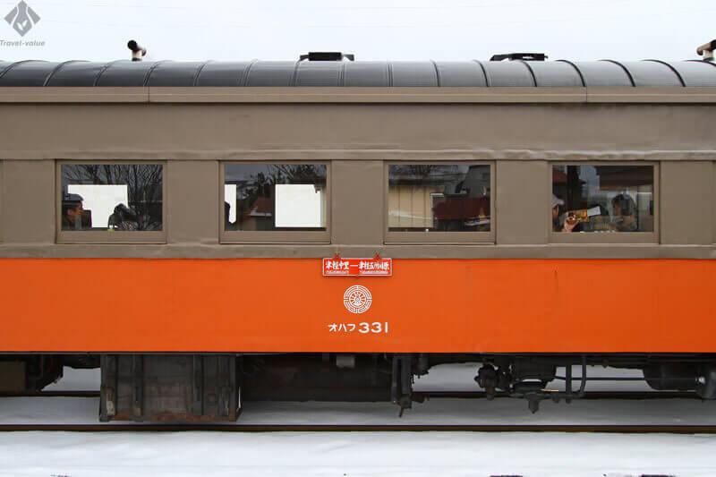 津軽鉄道 ストーブ列車・旧型客車「オハフ33型」