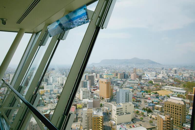 五稜郭タワー 展望台からの眺め