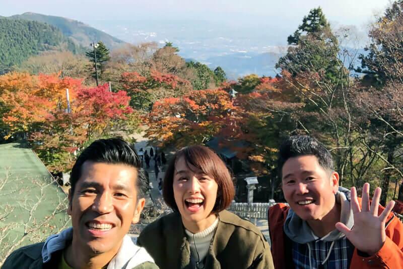 中村仁美と大山寺、大山阿夫利神社へ ©関西テレビ