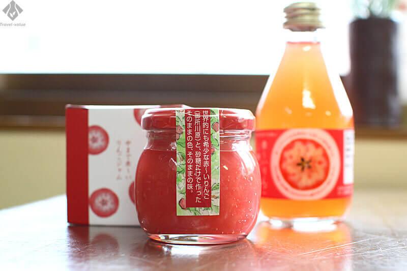 五所川原のお土産品:「御所川原」のジャムとジュース