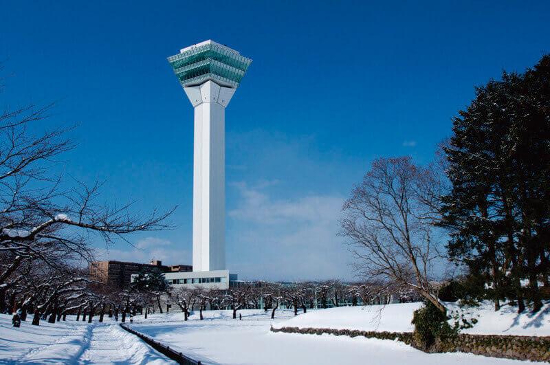 雪原の五稜郭タワー