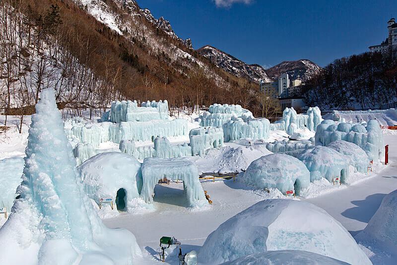 層雲峡氷瀑まつり 層雲峡氷瀑祭り 2014
