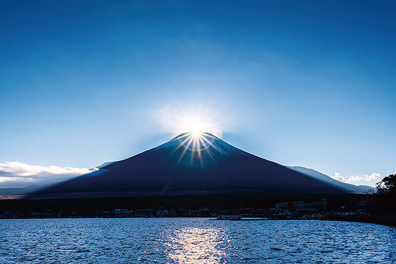 ダイヤモンド富士 山中湖