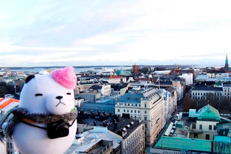 ジーンちゃんがフィンランドの首都ヘルシンキへ!北部の町にあるサンタクロースの家を訪問!