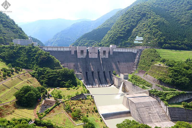 大井川鐵道 井川線「南アルプスあぷとライン」車窓風景・「長島ダム」