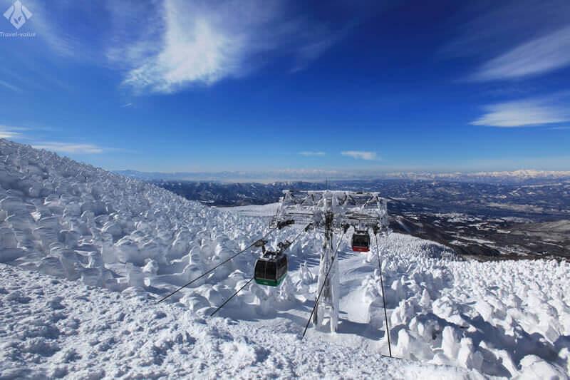 蔵王温泉スキー場のロープウェイ
