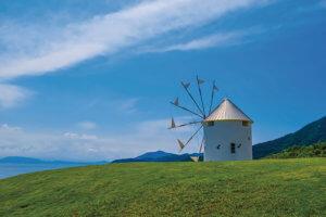 小豆島 オリーブ公園の風車