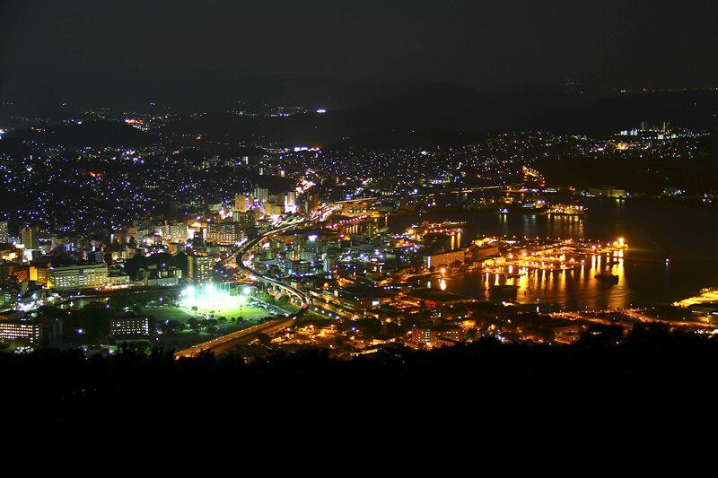 弓張岳からの夜景