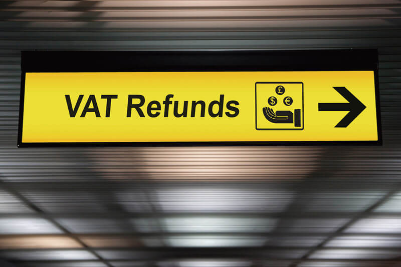 Airport Vat refund VAT払い戻し