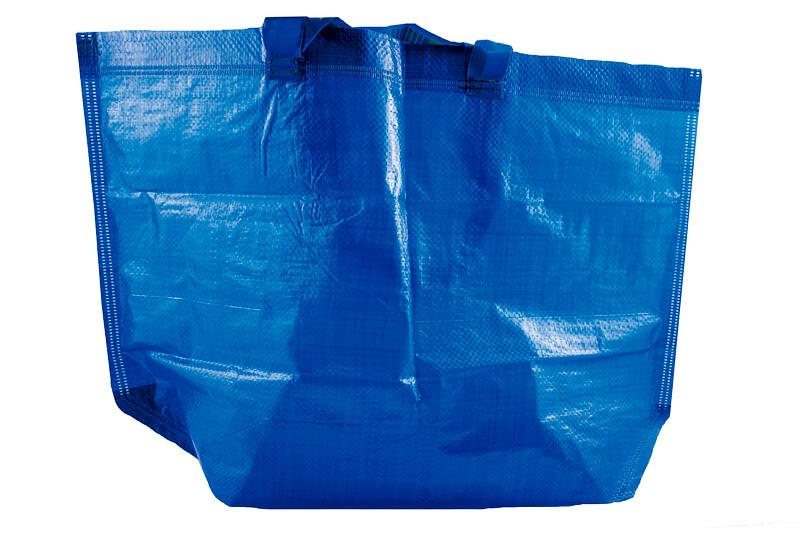 青いプラスチック買い物袋 ビニールバッグ