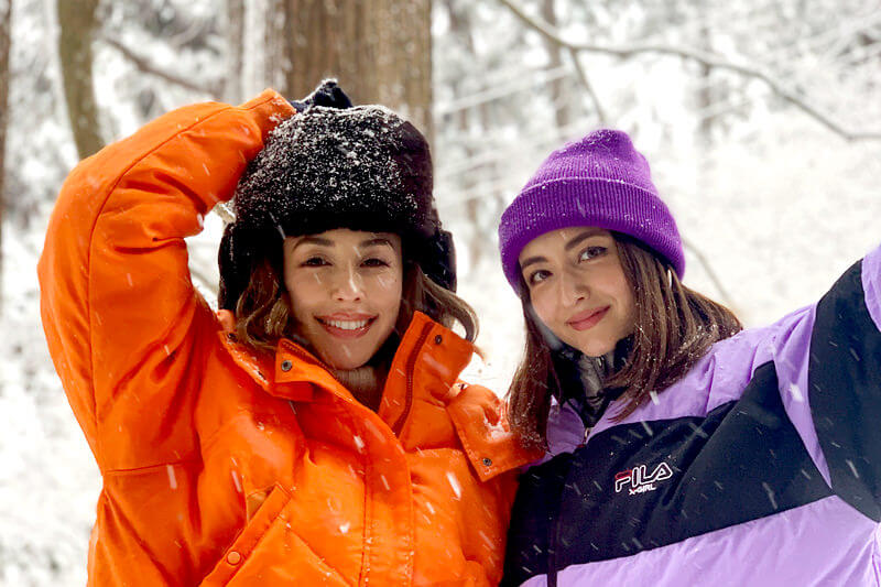 BENIとエリーローズが冬の山形県・蔵王へ!氷と雪がつくる芸術品「蔵王の樹氷」はまさに絶景