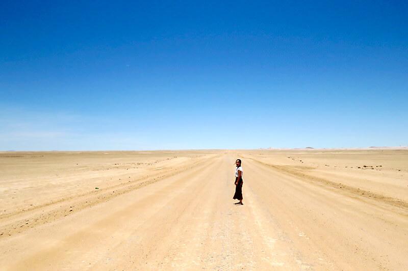 ナミビア・ウォルビスベイの砂漠