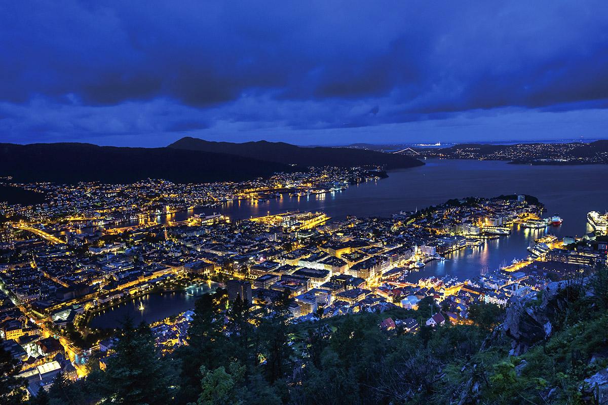 フロイエン山からの夜景