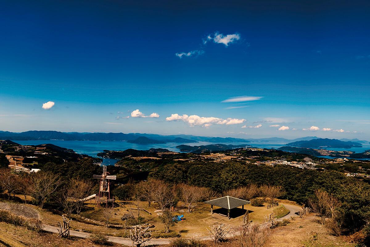 鹿児島県出水郡長島町 行人岳からの眺め