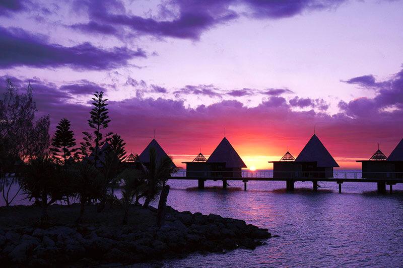 ニューカレドニア 夕焼け