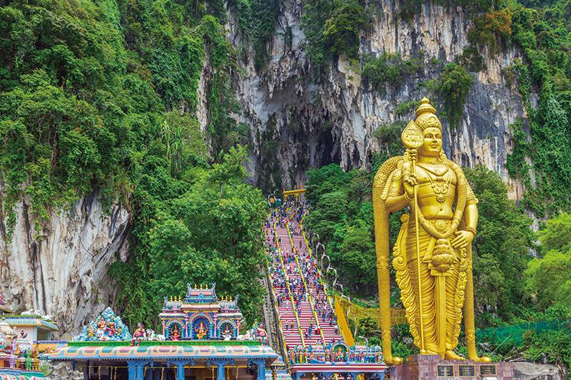マレーシア バトゥ洞窟