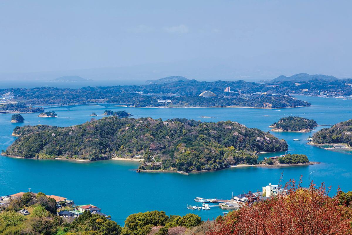 ⾼舞登⼭ 天草松島の眺め