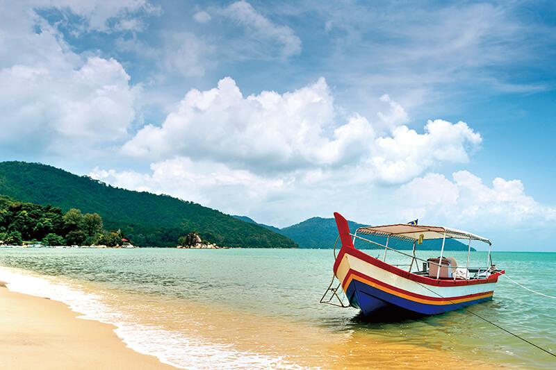 マレーシア ペナン島のビーチ