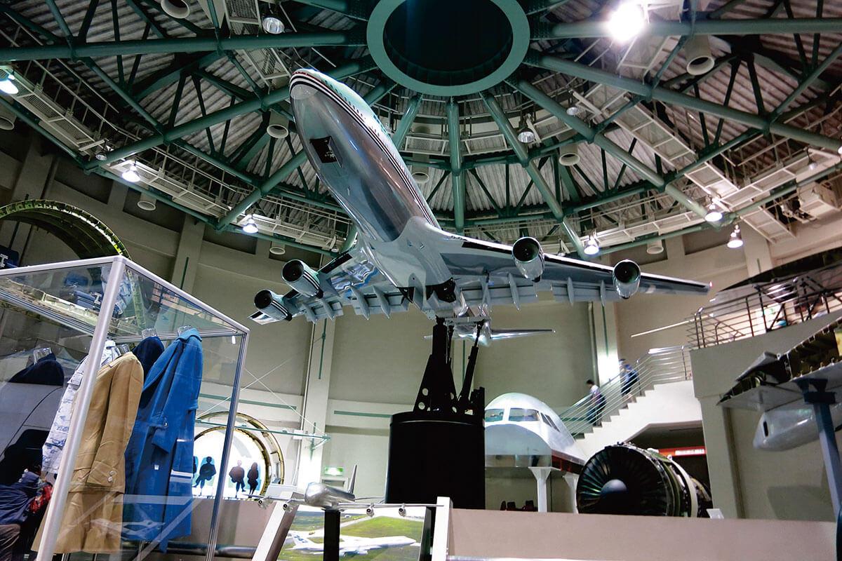航空科学博物館 ボーイング747-400⼤型模型