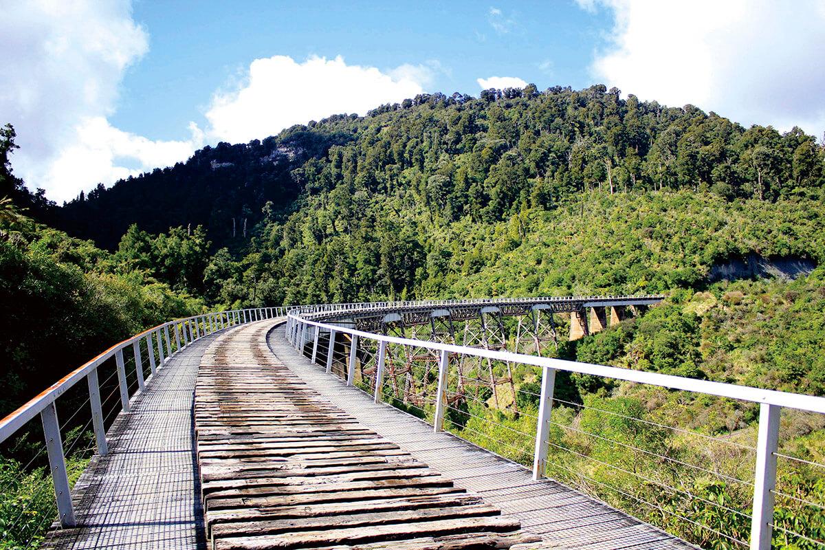 トンガリロ国立公園 オハクネ・オールド・コーチロード