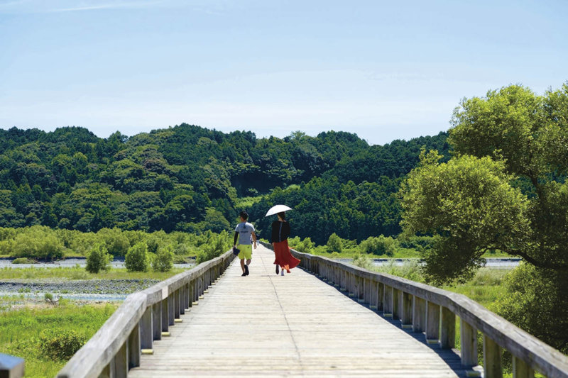静岡県島田市の世界一長い木造歩道橋「蓬萊橋」に行ってみよう。