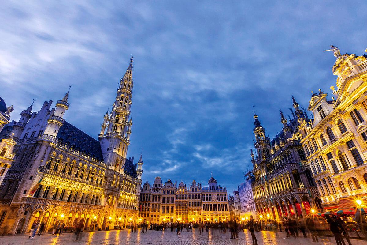 ベルギー グランプラス・夜景