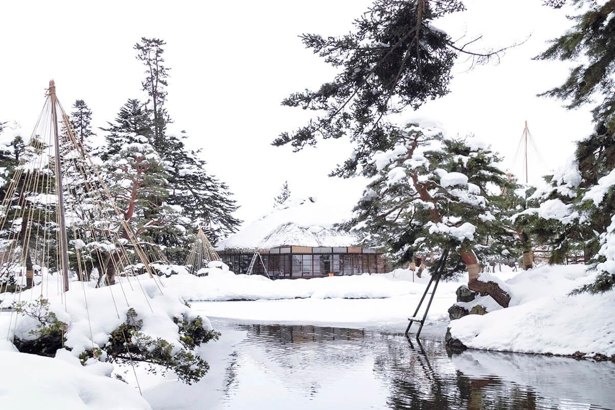 会津若松市 御薬園(冬)