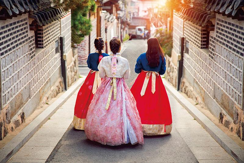 韓国のソウル 北村韓屋村