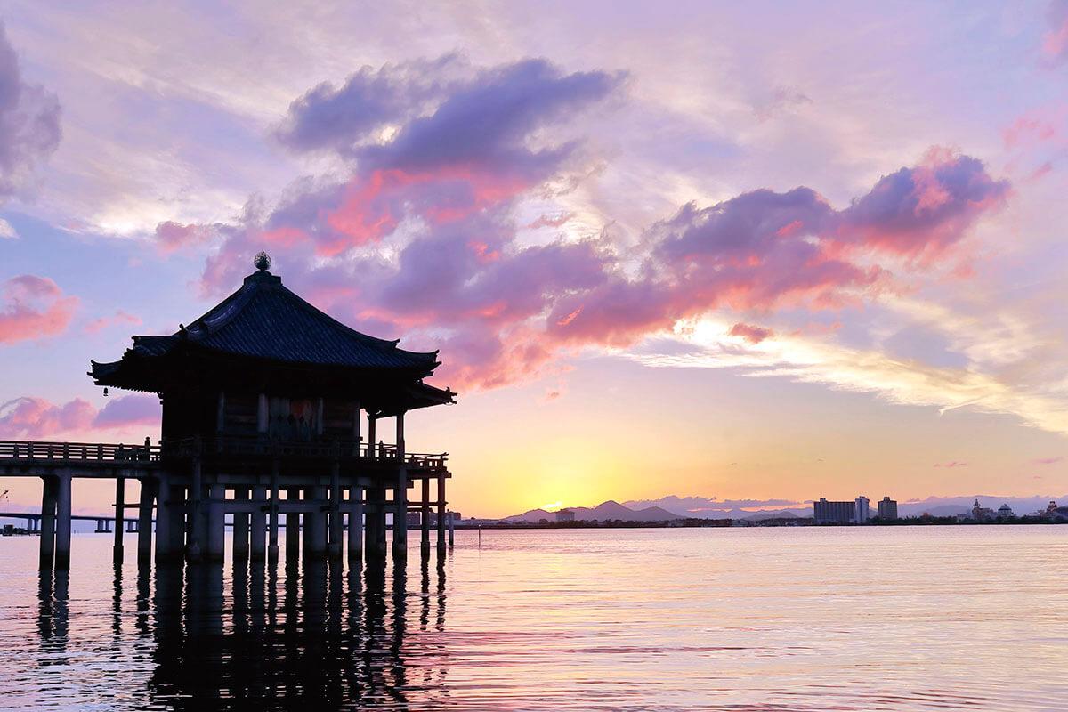 滋賀県大津市 浮御堂