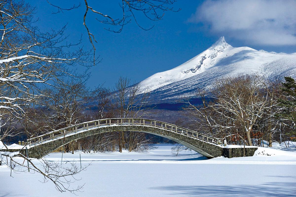 雪景色の大沼国定公園