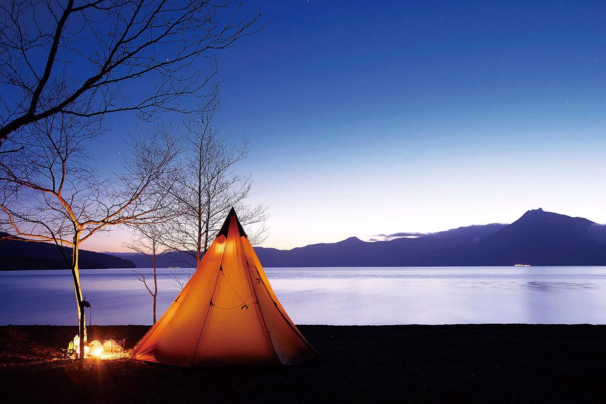 支笏湖湖畔 キャンプ場