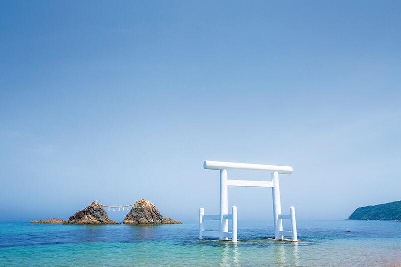 糸島市 二見ヶ浦の夫婦岩