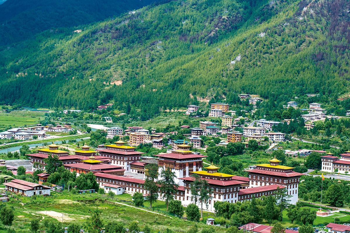 ブータン テインプー 町並み