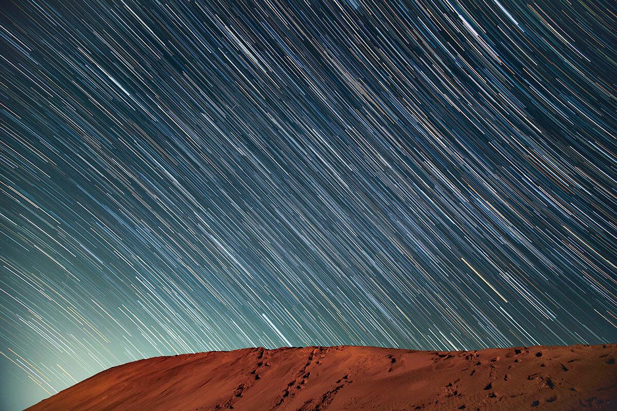 鳥取砂丘の星空