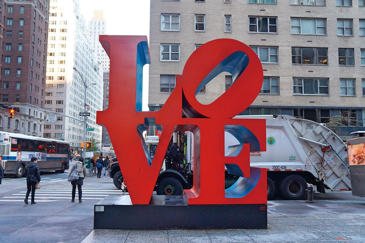 ニューヨーク LOVEのオブジェ