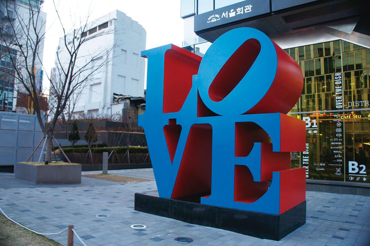 ソウル LOVEのオブジェ