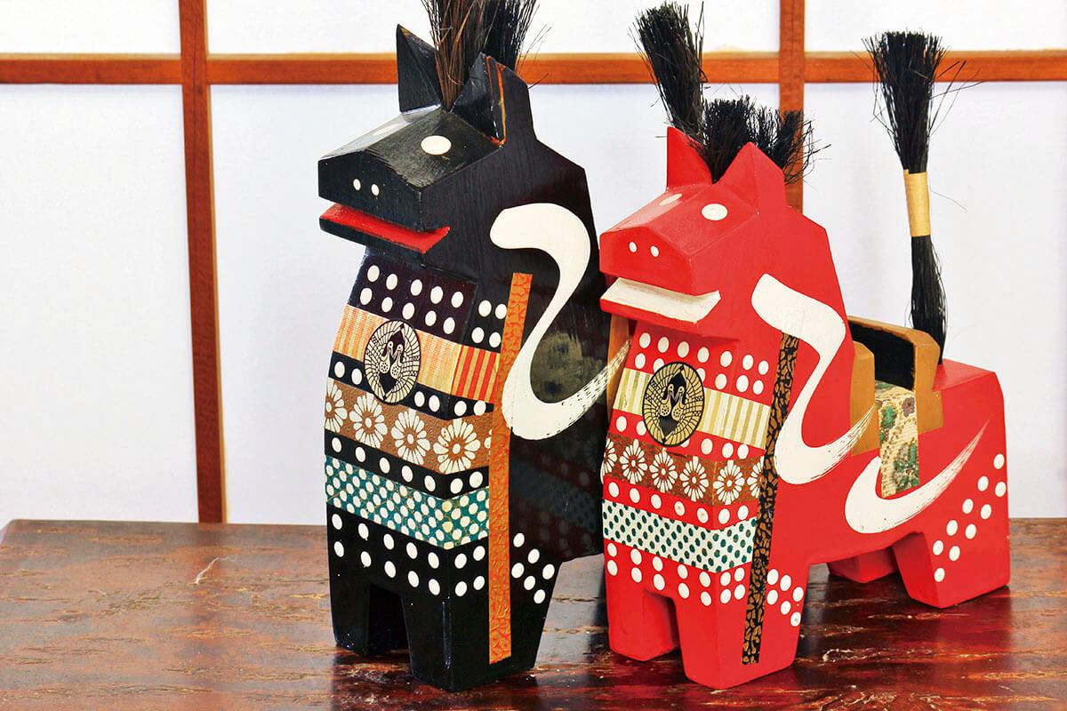 木彫りの八幡馬(イメージ)