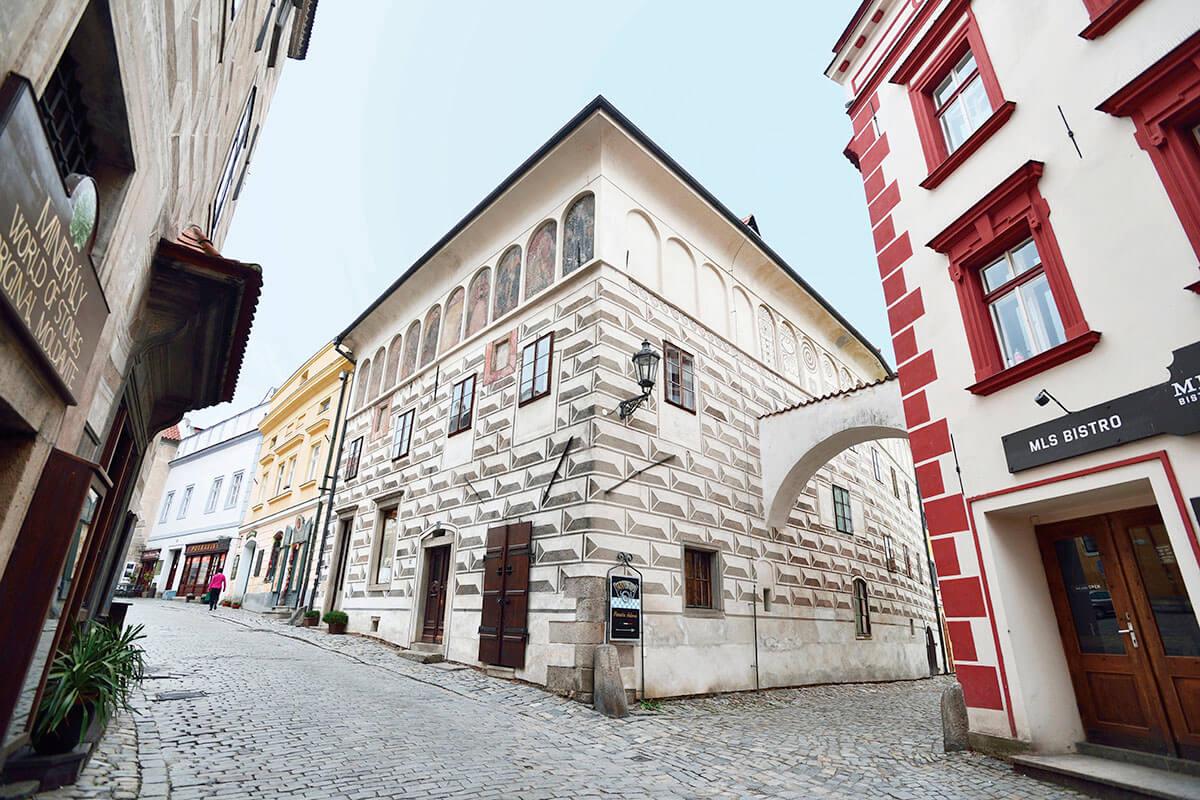 モザイクが可愛いチェスキークルムロフ旧市街