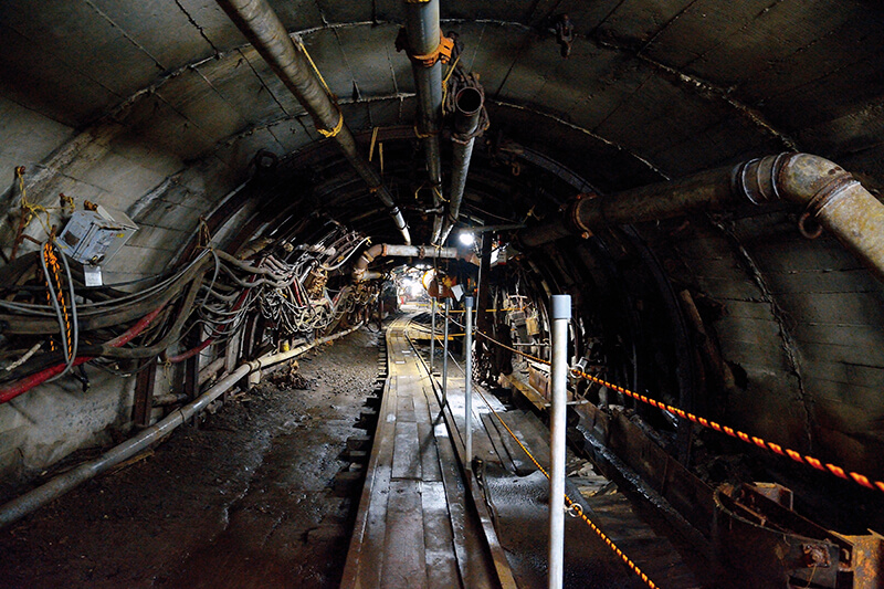 池島炭鉱跡