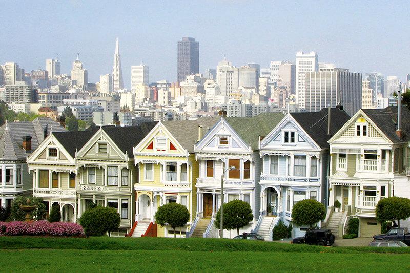 『フルハウス』サンフランシスコ アラモスクエア