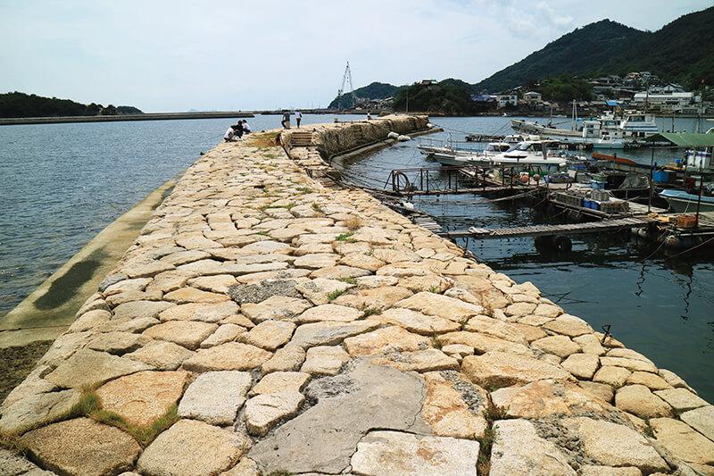 鞆の浦 防波堤