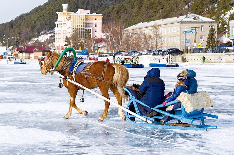 ロシア リストビヤンカ・馬ぞり